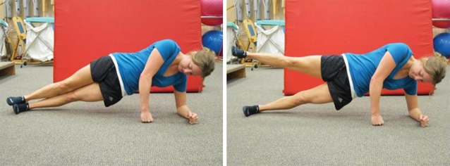 Side plank with hip abduction