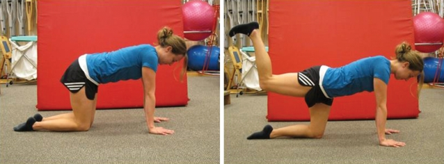 Front plank with hip extension
