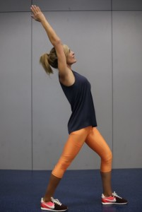 "A ""do-anywhere"" great hip, upper back and calf stretch"